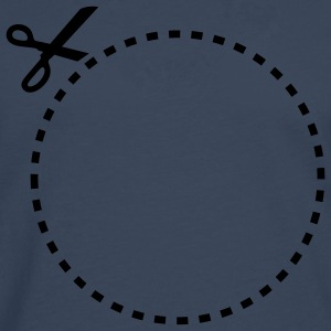dashed_cut_out_circle_1c T-skjorter - Premium langermet T-skjorte for menn