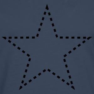 dashed_star_1c T-skjorter - Premium langermet T-skjorte for menn