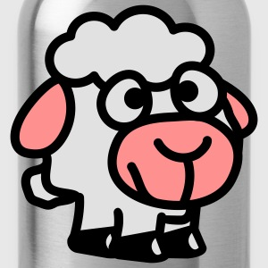 smiley_sheep_3c T-Shirts - Trinkflasche