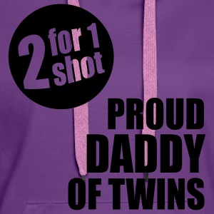 2 for 1 shot T-Shirt - Proud Daddy of Twins - lave - Frauen Premium Hoodie