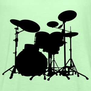 Drums - Percussion - Trummor - Musik - musik - band - musiker - Rock - Instrument - Tanktopp dam från Bella