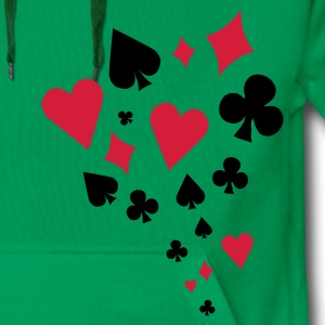 Poker - card game - Skat - Cards - Players - Men's Premium Hoodie