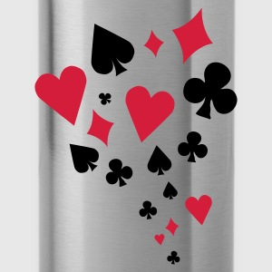 Poker - card game - Skat - Cards - Players - Water Bottle