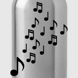 clef - Music - Sheet Music - Musicians - Electro - Club - Disco - Party - DJ - Water Bottle