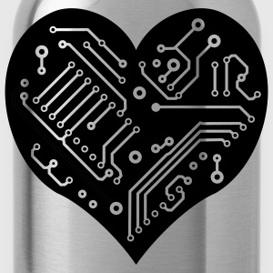 Technology Heart - Water Bottle