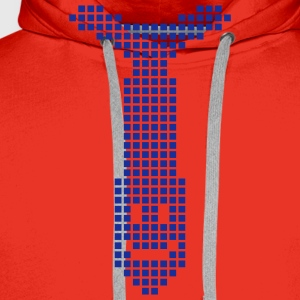 Rood smilie - smiley T-shirts - Mannen Premium hoodie