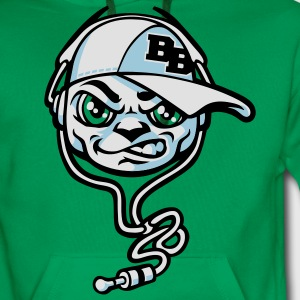 B boy and headset vert - Sweat-shirt à capuche Premium pour hommes