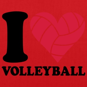 I love Volleyball T-shirts - Tas van stof