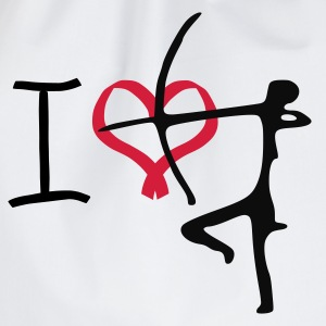 i love archery t-shirt - Drawstring Bag