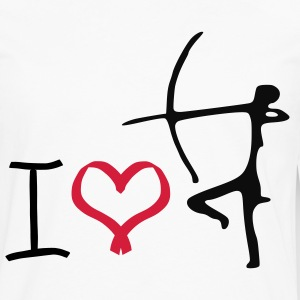 i love archery t-shirt - Men's Premium Longsleeve Shirt