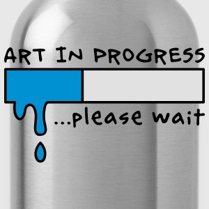 Art in Progress - Loading, please wait T-shirts - Vattenflaska