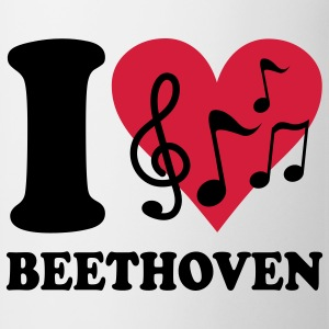 I love Beethoven T-shirts - Tasse