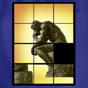 Le penseur The Thinker, decals puzzle game T-Shirts - Drawstring Bag
