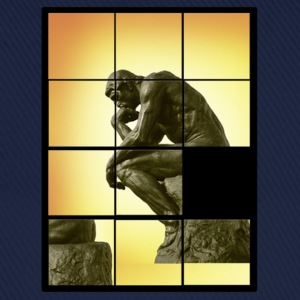 Le penseur The Thinker, decals puzzle game T-Shirts - Baseball Cap