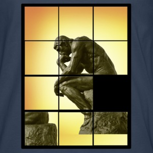 Le penseur The Thinker, decals puzzle game T-Shirts - Men's Premium Longsleeve Shirt