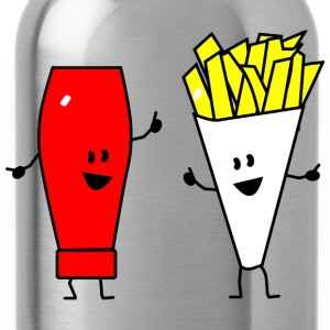 french fries ketchup T-shirts - Drinkfles