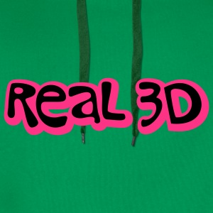 Real 3D | 3D Reality T-Shirts - Men's Premium Hoodie