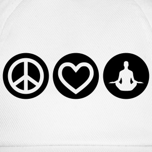 Peace | Love | Yoga | Frieden | Liebe | Chillen T-Shirts - Baseballkappe