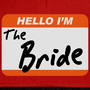 Hello I'm the Bride - Snapback-caps