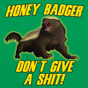 Money Badger Don't Give A Shit T-Shirts - Retro Bag