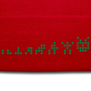 Red Pixel Evolution T-Shirts - Winter Hat