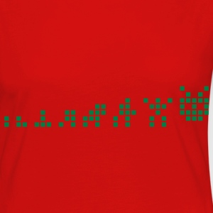 Red Pixel Evolution T-Shirts - Women's Premium Longsleeve Shirt