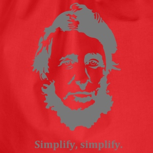Thoreau: Simplify, simplify. T-Shirts - Drawstring Bag