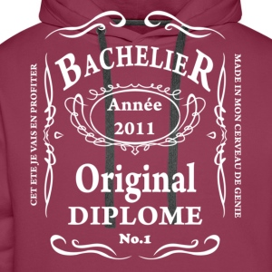 BACCALAUREAT BY TEESHIRTABLE T-shirts - Sweat-shirt à capuche Premium pour hommes