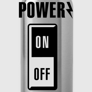 Power on/off T-shirts - Drinkfles