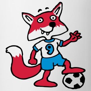 soccer_fox_d_white_3c T-shirts - Mugg