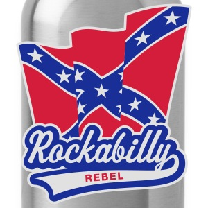 Rockabilly Rebel Flag, Girlie-T-Shirt - Water Bottle