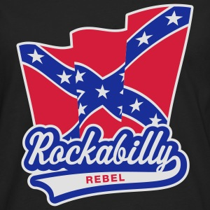 Rockabilly Rebel Flag, Girlie-T-Shirt - Männer Premium Langarmshirt