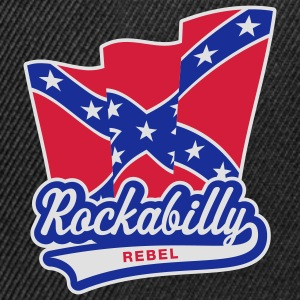 Rockabilly Rebel Flag, Girlie-T-Shirt - Snapback Cap