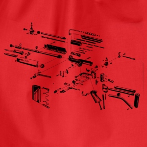Rifle Gun Rifle Blueprint T-Shirts - Drawstring Bag