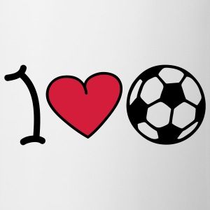 I love football T-shirts - Tasse