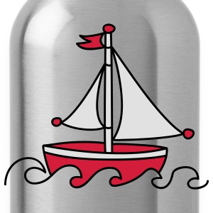Red Sailboat T-Shirts - Water Bottle