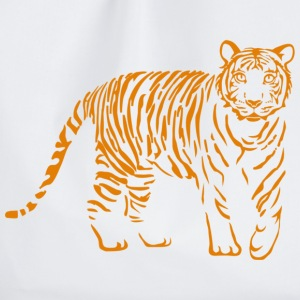 tiger katze löwe puma lion cougar cat zoo wild tiershirt shirt tiermotiv tigermotiv party T-Shirts - Turnbeutel