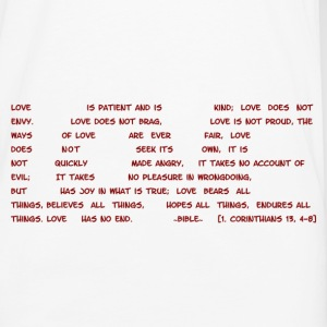 LOVE - Definition according to bible in 1.Cor13 - Men's Premium Longsleeve Shirt