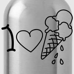 I love icecream T-Shirts - Trinkflasche