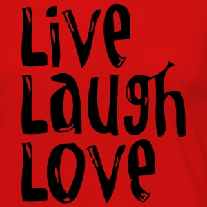 Live, Laugh, Love wide T-shirts - Vrouwen Premium shirt met lange mouwen