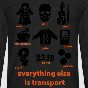 Everything else is transport: Sherlock T-Shirt - Men's Premium Longsleeve Shirt