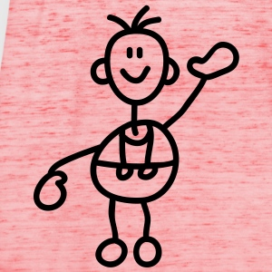 happy_stick_figure_1c T-shirts - Tanktopp dam från Bella