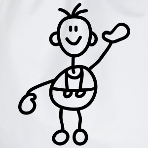 happy_stick_figure_1c T-shirts - Gymnastikpåse