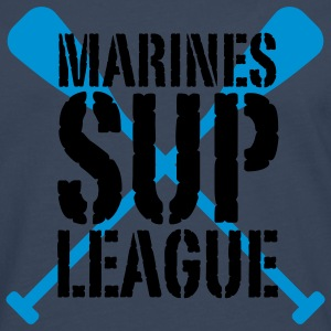 Marines SUP LEAGUE | Stand Up Paddling T-Shirts - Herre premium T-shirt med lange ærmer