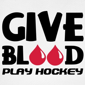Give Blood Play Hockey (version 2) T-Shirts - Baseball Cap