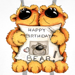 Happy Birthday, Bear T-skjorter - Premium hettegenser for menn