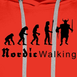 evolution_nordicwalking1 T-skjorter - Premium hettegenser for menn