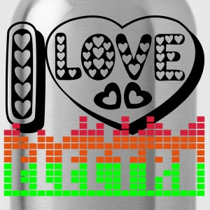 I LOVE ELECTRO T-Shirt - Water Bottle