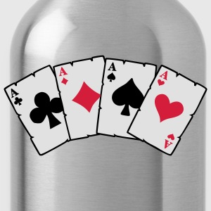 cards poker T-Shirts - Trinkflasche