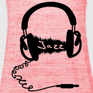 Headphones Audio Wave Motif: Jazz music Audiophile  T-Shirts - Women's Tank Top by Bella